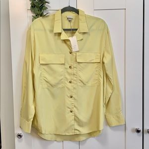 "Tops - NEW! Yellow Button Down Top ""A New Day"""